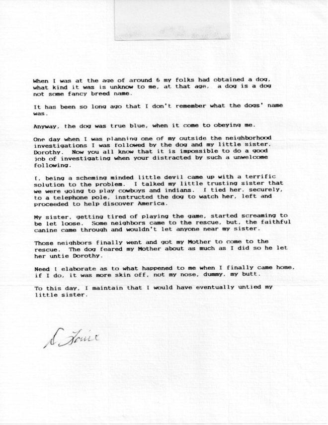 Louie Letter 004
