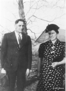 Grandpa Ted and Fanny in 1939