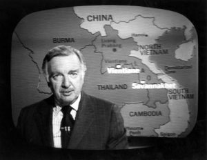 Walter Cronkite on the CBS evening news