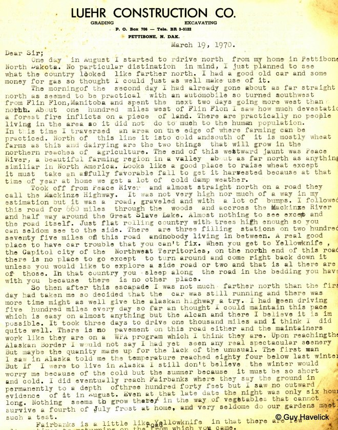 Alaska Page One