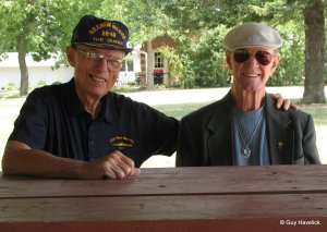 Bill and Jim in July, 2006, reminiscing about the war.