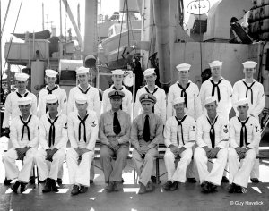 USS Fremont - Bridge crew - September 1953 -