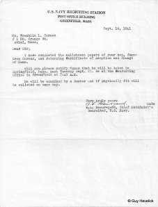 Jim's Letter of Induction Notice - 1941
