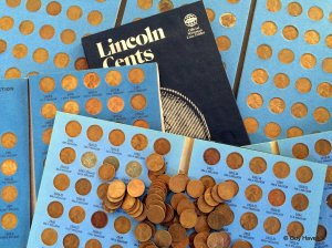 Some of Louie's pennies