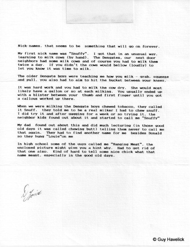 Louie Letter 012