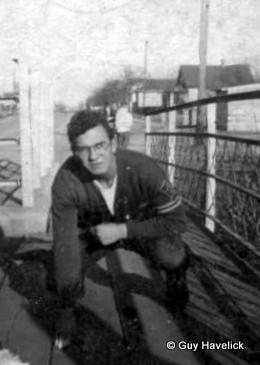 Louie Havelick on the second Street Bridge