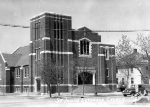 St John's Lutheran Church from a postcard by King Studio