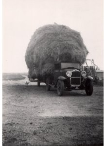 Ted Luehr's Truck and haystack