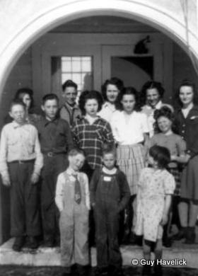 Grace is in the back row, third from the left.