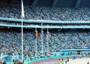 Track and Field in the stadium