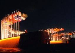 Parade of National Flags by the Stadium
