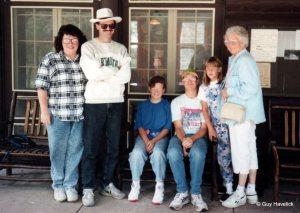 Judy, Guy, Mara, Lon, Mara's friend Abby, and Lucy. Early 1990s