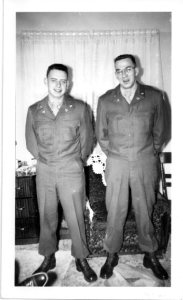 Louie and Alan K in January 1951, ready to travel to Alabama.