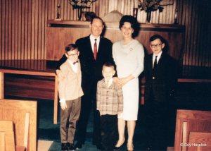 Eric, Norris, Chris, Grace, Linn on their wedding day 1966
