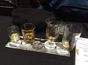 Whisky tasting.