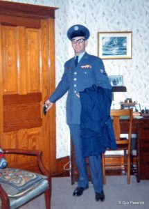 Jim in his Air Force uniform, in the apartment on First Street.