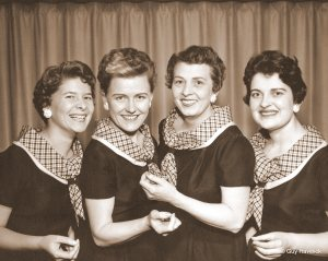 1957 Sweet Adelines quartet - The Humbugs - Lucy is 2nd from right
