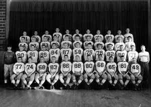 1946 Jamestown Blue Jays: Louie is # 84. Ernie Gates to the left. Photo by King Studio, Jamestown ND