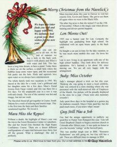1995 Christmas Letter