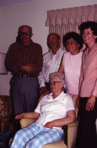 Henry, Melvin, Esther, Grace; with Fanny in 1980
