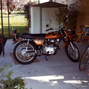 Linn's first motorcycle