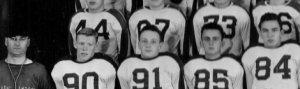 1946 Jamestown Blue Jays: Louie is # 84. Ernie Gates to the left. Photo by King Studio, Jamestown ND