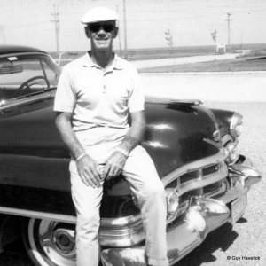 Jim with the 1952 Cadillac he describes in his letter.