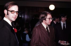 Dave Moen, Jerry Ray and Keith Lura at a 1972 wedding