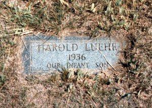 Harold, still born, 1936