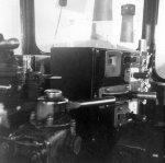 Inside a diesel railroad engine