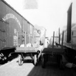 Baggage carts at the Jamestown, ND NP station